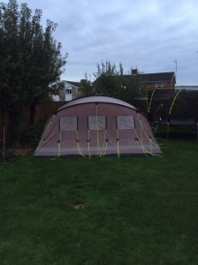The back of our tent....in the garden...